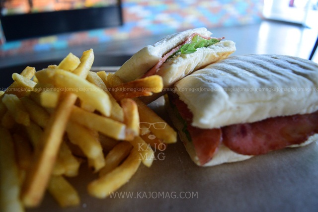 Panini served with a side of french fries
