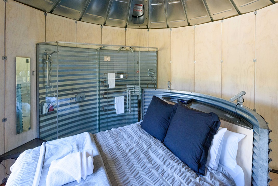 Silo Stays at Little River, Christchurch, bedroom