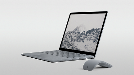Surface Laptop in Platinum with Microsoft Surface Arc Mouse (low res)
